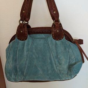 Lucky Brand Teal Suede Handbag